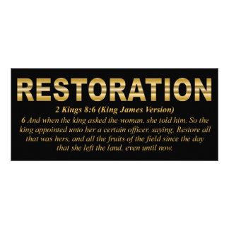 Tarjeta del estante de la restauración lonas publicitarias