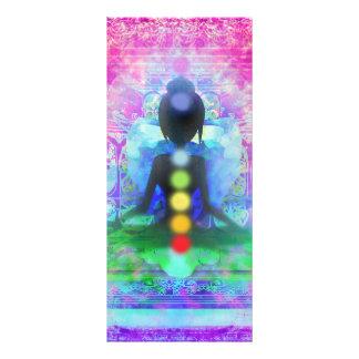 """Tarjeta del estante de la yoga de la meditación folleto publicitario 4"""" x 9"""""""