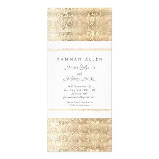 Tarjeta del estante de las lentejuelas del oro del diseños de tarjetas publicitarias