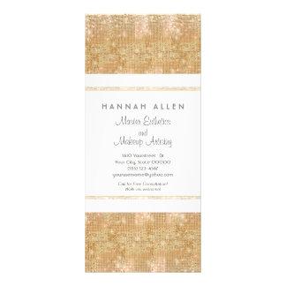 Tarjeta del estante de las lentejuelas del oro del tarjeta publicitaria personalizada