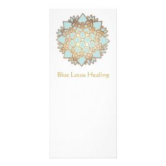 Tarjeta del estante de Lotus azul Diseño De Tarjeta Publicitaria