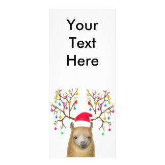 Tarjeta del estante de Navidad de la alpaca Plantillas De Lonas