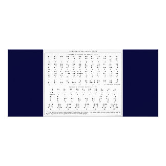 Tarjeta del estante del alfabeto de Braille Plantillas De Lonas