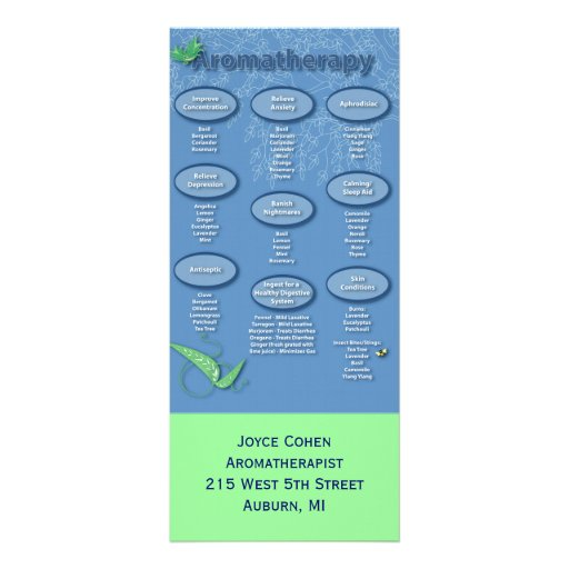 Tarjeta del estante del Aromatherapy Plantilla De Lona