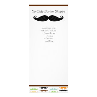 Tarjeta del estante del bigote lonas