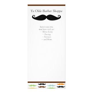 Tarjeta del estante del bigote diseños de tarjetas publicitarias