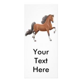Tarjeta del estante del caballo de la bahía que ca tarjeta publicitaria a todo color