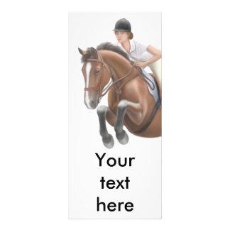 Tarjeta del estante del caballo del puente lona personalizada