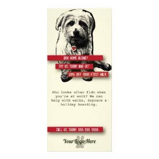 Tarjeta del estante del caminante del perro - lonas publicitarias