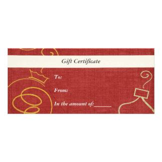 Tarjeta del estante del Certificado-Navidad-Negoci Lonas