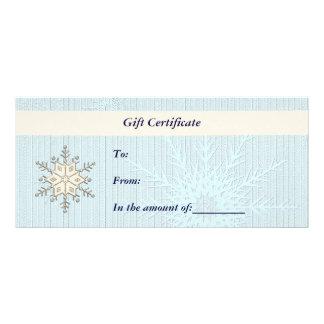 Tarjeta del estante del Certificado-Navidad-Negoci Plantillas De Lonas
