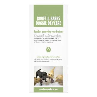 Tarjeta del estante del cuidado del perro de la im plantillas de lonas