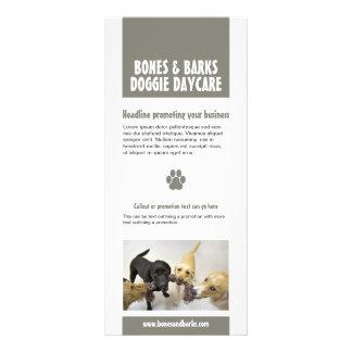 Tarjeta del estante del cuidado del perro de la im tarjetas publicitarias