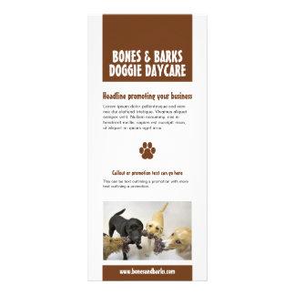 Tarjeta del estante del cuidado del perro de la im tarjetas publicitarias a todo color