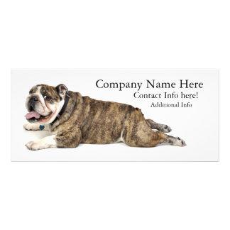 Tarjeta del estante del dogo tarjetas publicitarias personalizadas