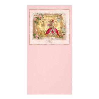 Tarjeta del estante del fiesta del rosa de Marie A Tarjeta Fotográfica Personalizada