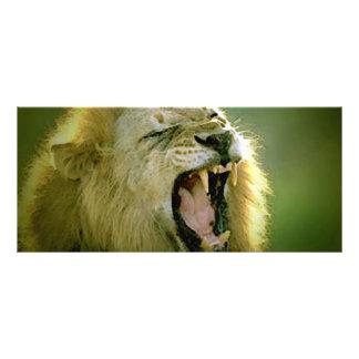 Tarjeta del estante del león del rugido diseño de tarjeta publicitaria