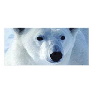 Tarjeta del estante del oso polar tarjeta publicitaria a todo color