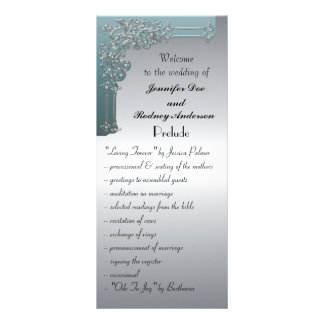 Tarjeta del estante del programa de la bodas de pl tarjeta publicitaria
