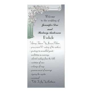Tarjeta del estante del programa de la bodas de pl tarjeta publicitaria a todo color