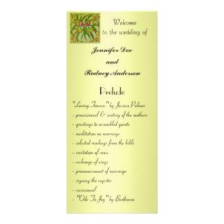 Tarjeta del estante del programa del boda de la ma tarjeta publicitaria