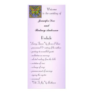 Tarjeta del estante del programa del boda de la ma tarjeta publicitaria personalizada