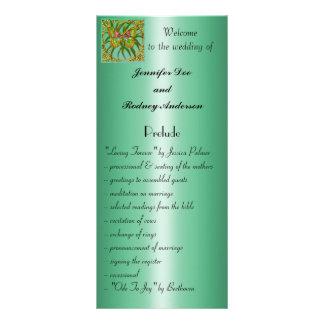 Tarjeta del estante del programa del boda de la ma lonas publicitarias