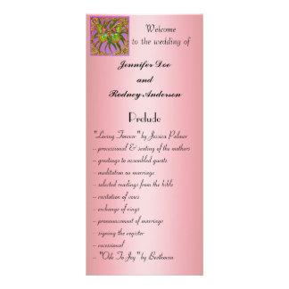 Tarjeta del estante del programa del boda de la ma lonas