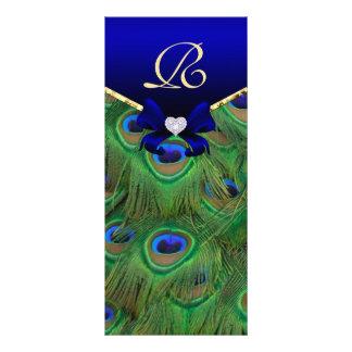 Tarjeta del estante del programa del boda del pavo diseño de tarjeta publicitaria