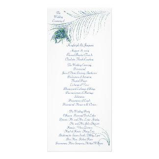 Tarjeta del estante del programa del boda del pavo tarjetas publicitarias a todo color