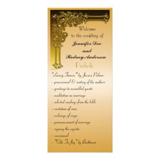 Tarjeta del estante del programa del boda lonas