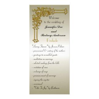 Tarjeta del estante del programa del boda plantilla de lona