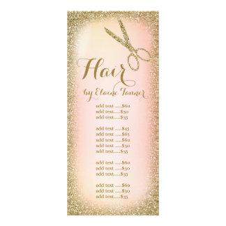 Tarjeta del estante del salón de pelo del brillo lona