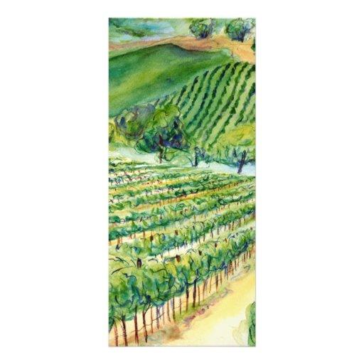 Tarjeta del estante del viñedo de California Tarjetas Publicitarias Personalizadas