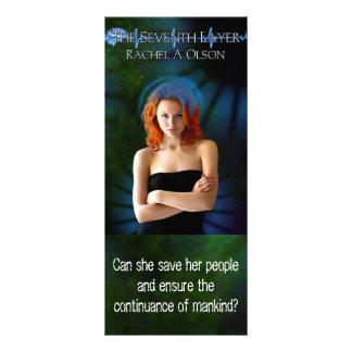Tarjeta del estante - la séptima capa tarjetas publicitarias a todo color