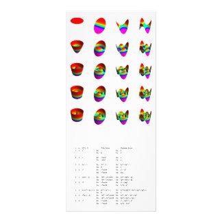 Tarjeta del estante: Los polinomios del disco de Z Tarjeta Publicitaria Personalizada