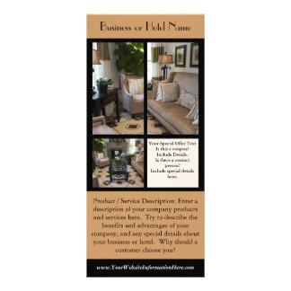 """Tarjeta del estante para los hoteles, negocios, folleto publicitario 4"""" x 9"""""""