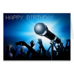 Tarjeta del estilo del Karaoke del feliz cumpleaño