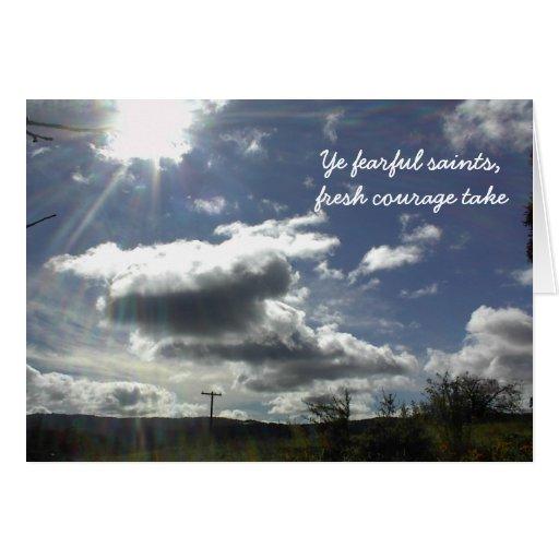 Tarjeta del estímulo con el cielo nublado