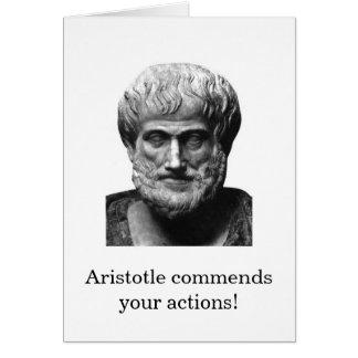 Tarjeta del estímulo de Aristóteles
