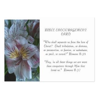 Tarjeta del estímulo de la biblia tarjetas de visita grandes