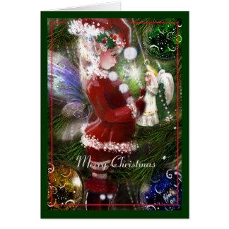 Tarjeta del Faery y del ángel del navidad