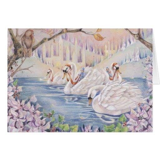 Tarjeta del Fairyland del invierno