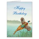 Tarjeta del faisán del feliz cumpleaños