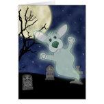 Tarjeta del fantasma del cementerio del Corgi