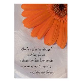 Tarjeta del favor de la caridad del boda de la mar plantilla de tarjeta personal