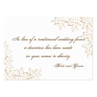 Tarjeta del favor de la caridad del boda del borde tarjetas personales