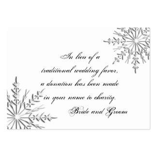 Tarjeta del favor de la caridad del boda del copo plantillas de tarjeta de negocio