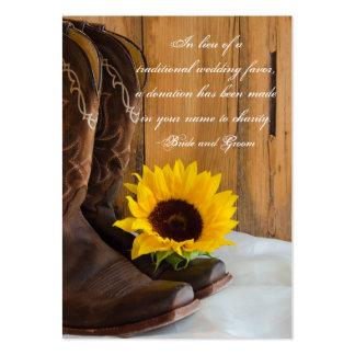 Tarjeta del favor de la caridad del boda del giras tarjeta de visita