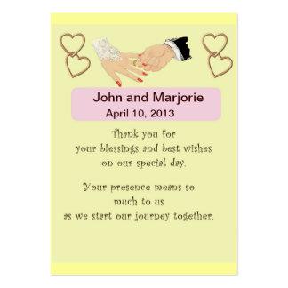 Tarjeta del favor/del lugar del boda tarjetas de visita grandes